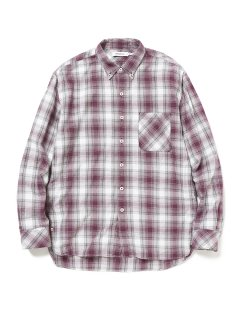 nonnative DWELLER B.D. SHIRT RELAXED FIT COTTON OMBRE PLAID