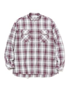 nonnative WORKER PULLOVER SHIRT RELAXED FIT COTTON OMBRE PLAID