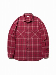 COOTIE Ombre Check Work Shirt