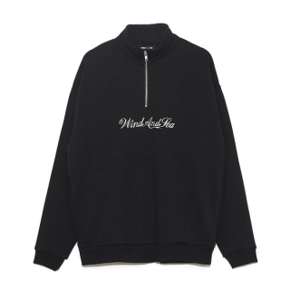 WIND AND SEA WDS HALF ZIP SWEAT SHIRT