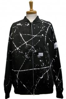 INQUIRING VARSITY JACKET DRIPPED(BLACK)