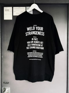 WRIGHT Cut-Off Half Sleeve Sweat Shirt THREE QUOTE CHAPTERS