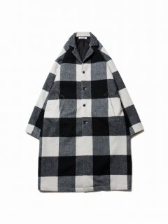COOTIE Napping Buffalo Check Shop Coat