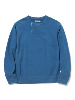 nonnative DWELLER HALF ZIP CREW COTTON SWEAT OVERDYED