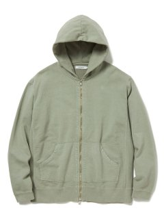 nonnative DWELLER FULL ZIP HOODY COTTON SWEAT OVERDYED