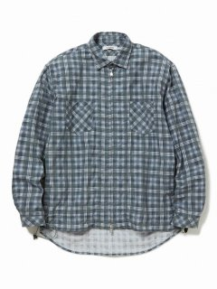nonnative WORKER SHIRT JACKET COTTON TWILL PLAID PRINT