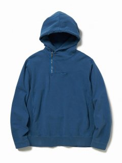 nonnative DWELLER HALF ZIP HOODY COTTON SWEAT OVERDYED