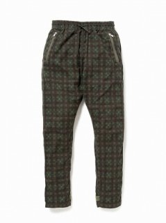 nonnative SOLDIER EASY PANTS COTTON TWILL PLAID PRINT