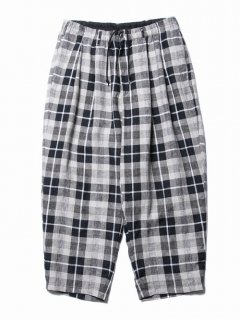 COOTIE Linen Check 2 Tuck Easy Pants