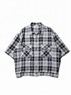 COOTIE Linen Check Work S/S Shirt