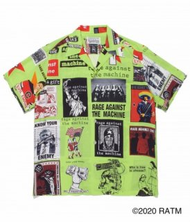 WACKO MARIA RAGE AGAINST THE MACHINE / S/S HAWAIIAN SHIRT