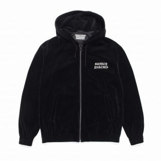 WACKO MARIA VELOUR HOODED JACKET