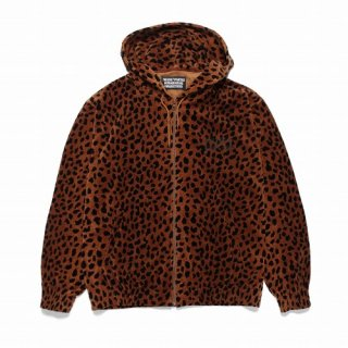 WACKO MARIA LEOPARD VELOUR HOODED JACKET