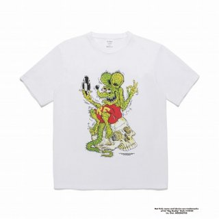 WACKO MARIA RAT FINK / TIMLEHI / WASHED HEAVY WEIGHT CREW NECK COLOR T-SHIRT ( TYPE-1 )