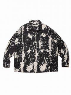 COOTIE Wolf Print Nel Open Collar Shirt