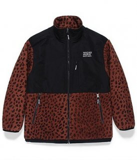 WACKO MARIA LEOPARD BOA FLEECE JACKET