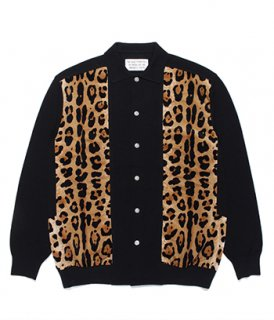 WACKO MARIA TWO-TONE KNIT POLO CARDIGAN ( TYPE-1 )