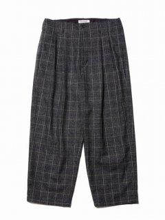 COOTIE Melange Wool 2 Tuck Trousers