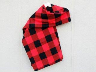 【マサイシュカ】 赤×黒 ブロックチェック 東アフリカ・マサイ族伝統布