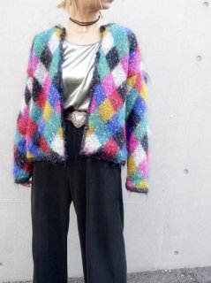 【MULTI COLOR KNIT JACKET】