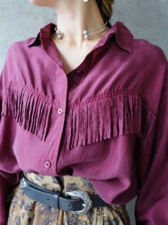 FRINGE SILK SHIRT】