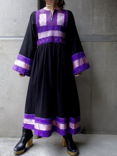 【AFGHAN DRESS BLACK】
