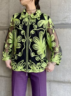 <img class='new_mark_img1' src='//img.shop-pro.jp/img/new/icons5.gif' style='border:none;display:inline;margin:0px;padding:0px;width:auto;' />【NEON×BLACK SHEER JACKET】