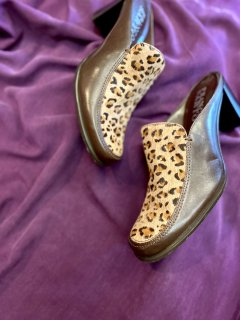 【LEOPARD HARAKO SHOES】