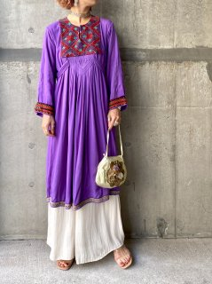 【AFGHAN DRESS PURPLE】