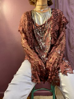 【BROWN LACE 2PC】