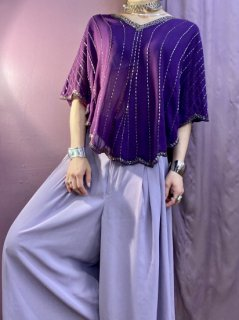 【1980s PURPLE SWING BLOUSE】