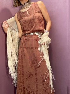 【RAYON SUMMER DRESS BROWN】
