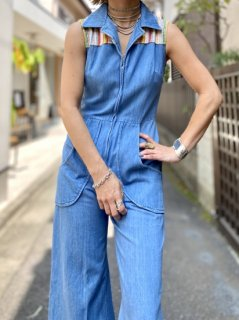 <img class='new_mark_img1' src='//img.shop-pro.jp/img/new/icons14.gif' style='border:none;display:inline;margin:0px;padding:0px;width:auto;' />【1970s DENIM JUMPSUIT】