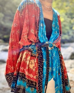 【RAYON HAORI RED×BLUE】