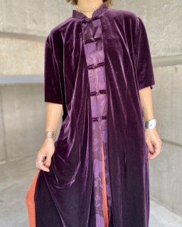 【VELVET CHINA LONG JACKET】