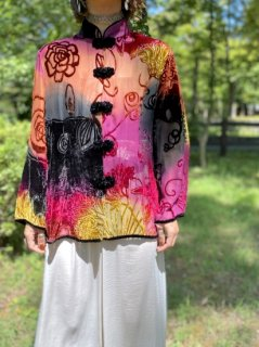 【SHEER SILK CHINA BLOUSE】