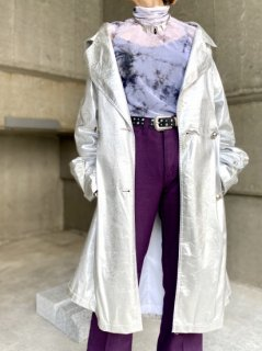 <img class='new_mark_img1' src='//img.shop-pro.jp/img/new/icons14.gif' style='border:none;display:inline;margin:0px;padding:0px;width:auto;' />【1980s METALIC SILVER TRENCH COAT】