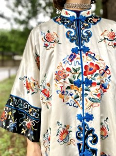 【1960s EMBROIDERED MANDARIN JACKET】
