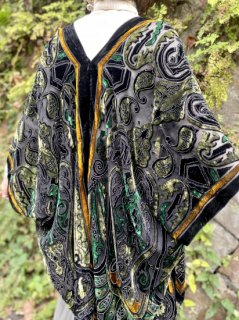【SHEER×VELVET HAORI  GREEN】