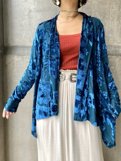 【SHEER×VELVET HAORI BLUE】