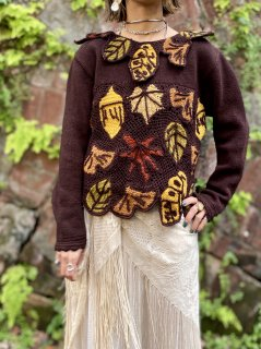 【LEAF MOTIF SWEATER 】