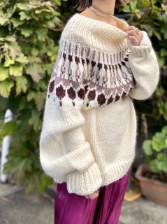 【OVERSIZED NORDIC SWEATER】
