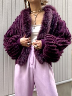 【RABBIT FUR×KNIT SHORT COAT】