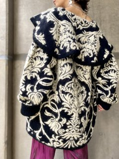 【1980s MONOTONE KNIT COAT】