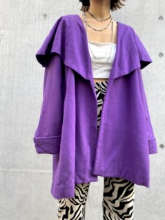 【1980s PURPLE WOOL COAT】
