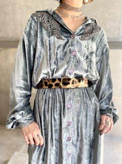 【1980s VELVET DRESS 】