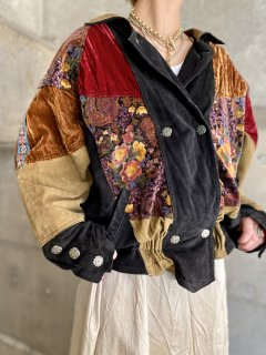 【1980s PATCHWORK LEATHER JACKET】