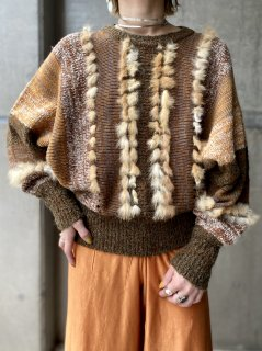 <img class='new_mark_img1' src='https://img.shop-pro.jp/img/new/icons14.gif' style='border:none;display:inline;margin:0px;padding:0px;width:auto;' />【1980s FUR MIX KNIT SWEATER】