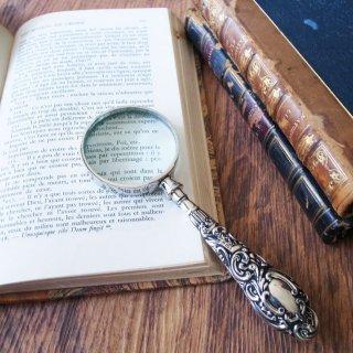 ロココの夢をもつシルバールーペ / Silver Handle Magnifying glass 1901 Birmingham