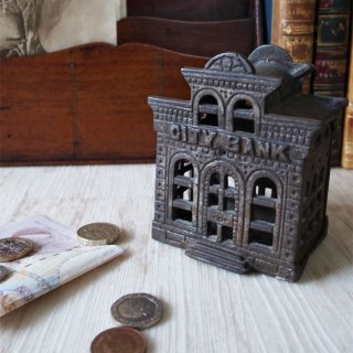 Chamberlain & Hill Cast Iron Money Bank